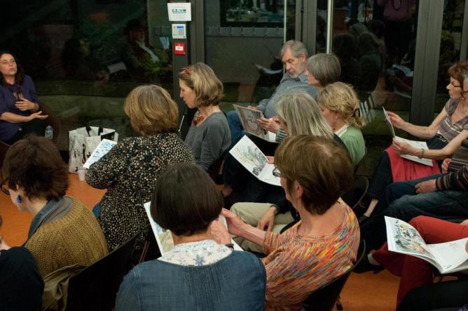 Les futurs lecteurs de « Martin Kœurpane » et la maquette du livre