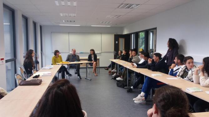 9 mai, Marko Sosič, lycée Benoît-Charvet, Saint-Etienne