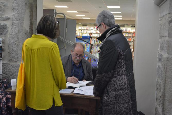 9 mai, Marko Sosič, signature Librairie de Paris, Saint-Etienne