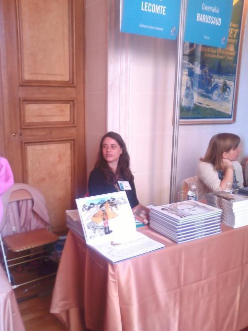 8 mars, Salon du roman historique de Levallois, Sophie Lecomte